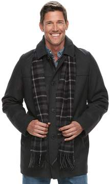 Dockers Men's Wool-Blend Coat with Scarf