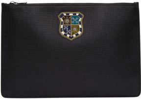 Dolce & Gabbana Black Crest Pouch
