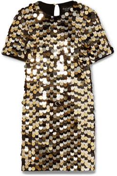 Rachel Zoe Elsa Sequined Cotton-jersey Mini Dress - Gold
