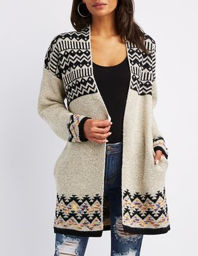 Charlotte Russe Soft Woven Open-Front Cardigan