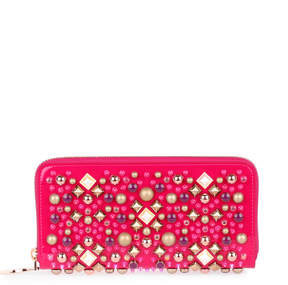Christian Louboutin Panettone patent pink wallet
