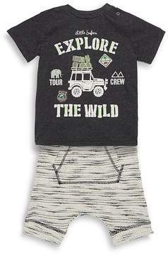 Petit Lem Baby Boy's Two-Piece Graphic Tee and Shorts Set