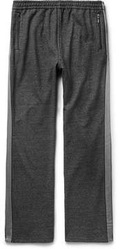 Beams Webbing-Trimmed Mélange Loopback Cotton-Jersey Sweatpants