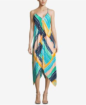 ECI Handkerchief-Hem Maxi Dress