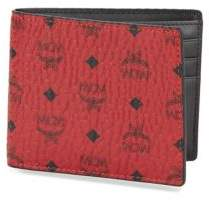 MCM Claus Small Coated Canvas Wallet
