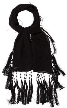 Dries Van Noten Silk Tassel Embellished Scarf