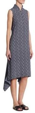Akris Punto Las Rocas-Print Asymmetric Dress