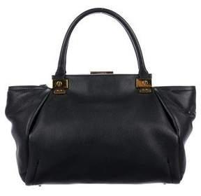 Lanvin Leather Push-Lock Satchel