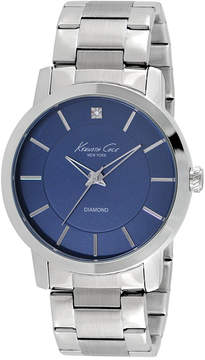 Kenneth Cole New York Men's Diamond Accent Stainless Steel Bracelet Watch 44mm KC9329