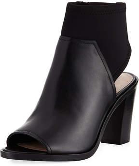 Donald J Pliner Kleo Open-Toe Leather Bootie, Black