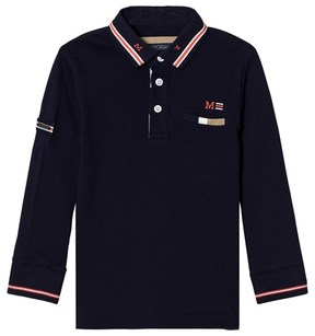 Mayoral Navy Long-Sleeved Polo