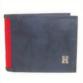Tommy Hilfiger Men's RFID Blocking Leather Traveler & Valet Wallet-Blue