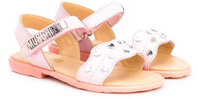 Moschino Kids heart studded sandals