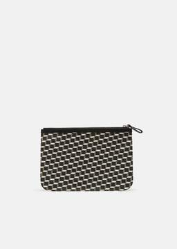 Pierre Hardy Petite Maroquinerie Canvas Cube Pouch