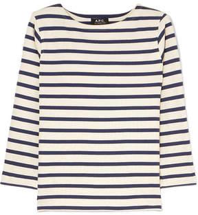 A.P.C. Atelier de Production et de Création – Striped Cotton-jersey Top – Cream