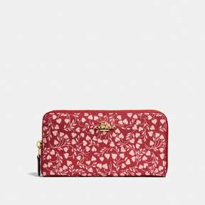 COACH Coach Accordion Zip Wallet With Love Leaf Print - LOVE LEAF/LIGHT GOLD - STYLE
