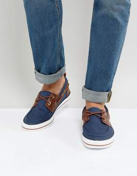 Asos Boat Shoes In Navy