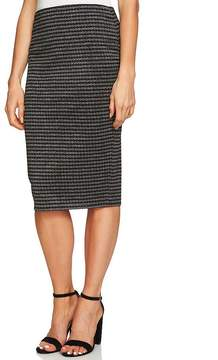 CeCe Marled Knit Pencil Skirt
