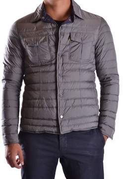 Geospirit Men's Grey Polyester Down Jacket.