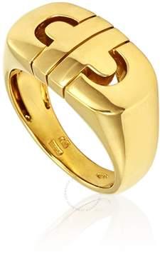 Bvlgari 18K Yellow Gold Parentesi Ring- Size 53 (US 6 1/2)