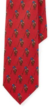 Polo Ralph Lauren Player-Print Silk Tie Red One Size