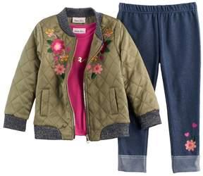 Little Lass Toddler Girl Bomber Jacket