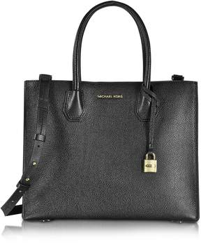 Michael Kors Mercer Large Convertible Bonded-Leather Tote - BLACK - STYLE