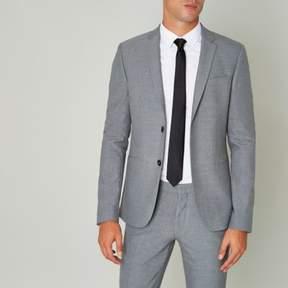 River Island Mens Grey super skinny fit suit jacket