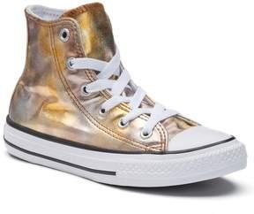 Converse Girls' Chuck Taylor All Star Metallic High Top Sneakers
