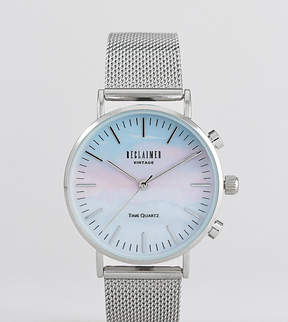 Reclaimed Vintage Inspired Lilac Mountain Mesh Watch In Silver 36mm Exclusive to ASOS