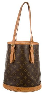 Louis Vuitton Monogram Petit Bucket Tote - BROWN - STYLE