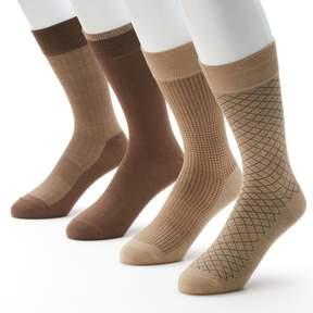 Croft & Barrow Big & Tall 4-pk. Opticool Dress Socks