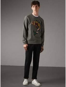 Burberry Beasts Appliqué Cotton Sweatshirt