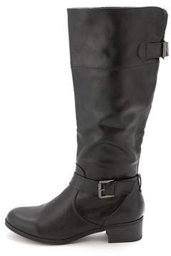 Rampage Womens Inkling Almond Toe Knee High Riding Boots.