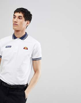 Ellesse Polo With Chest Logo In White