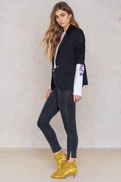 NA-KD Na Kd Highwaist Long Side Slit Jeans