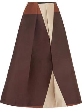 Co Printed Taffeta Midi Skirt - Black