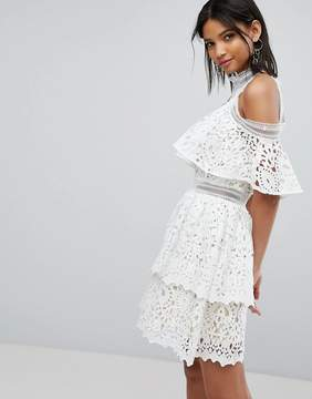 Elliatt Lace Frill Dress