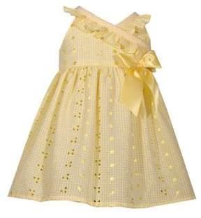 Iris & Ivy Baby Girl's Eyelet Ribbon Dress