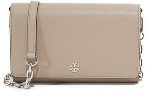 Tory Burch Robinson Chain Wallet - BLACK - STYLE