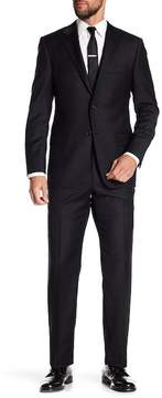 Hickey Freeman Black Wool Suit
