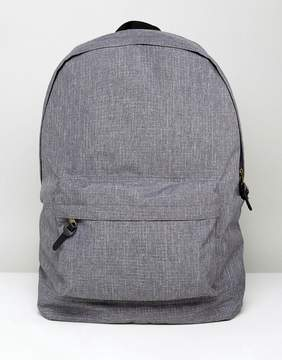 Asos Backpack In Gray Check Texture