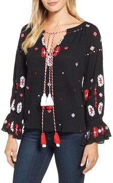 Kas Women's Myra Hand Embroidered Blouse