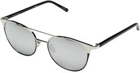 Linda Farrow Luxe LFL421C6SUN White Gold w/ Black Trim Sunglasses Fashion Sunglasses
