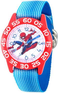 Marvel Spiderman Boys Blue Strap Watch-Wma000181