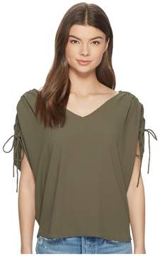 1 STATE 1.STATE Cinched Sleeve V-Neck Blouse Women's Blouse
