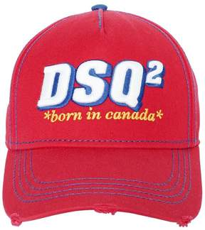 DSQUARED2 Dsq2 Embroidered Canvas Baseball Hat