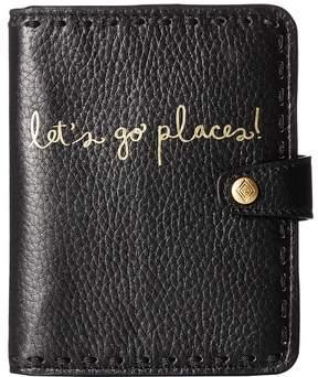 Vera Bradley Mallory RFID Passport Wallet Wallet Handbags - BLACK - STYLE