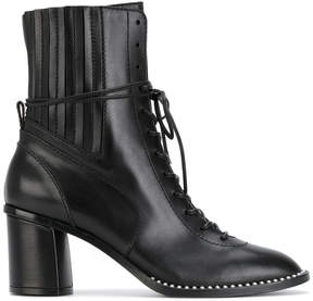 Casadei textured studded ankle boots