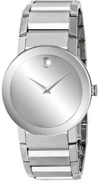 Movado Men's 606093 Sapphire Stainless Steel Bracelet Watch, 38mm